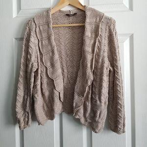 Crochet Long Sleeve Cardigan